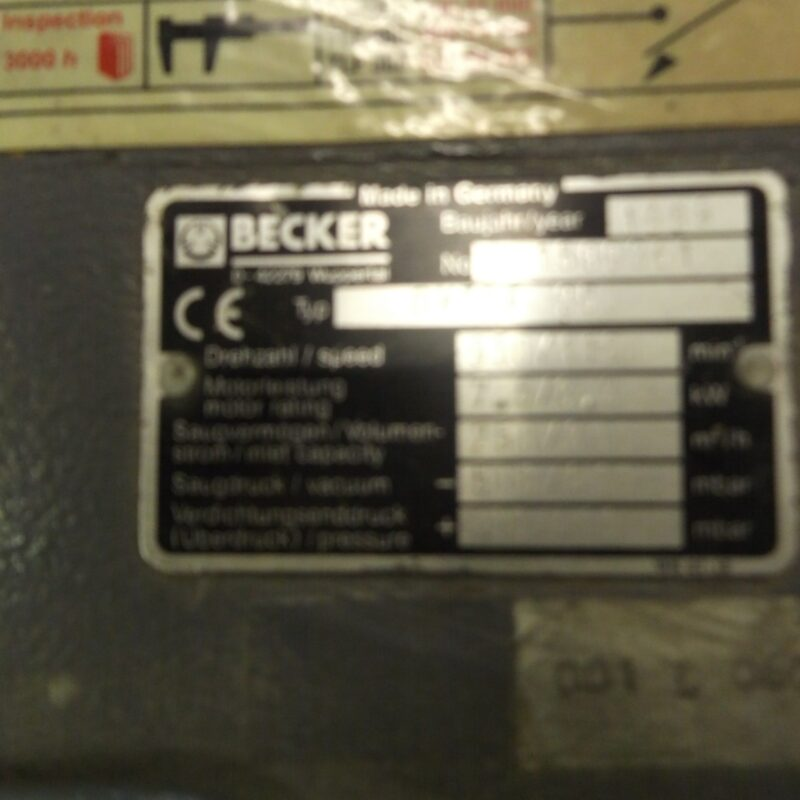 Becker DVLTF 250  7.5/8.3kW