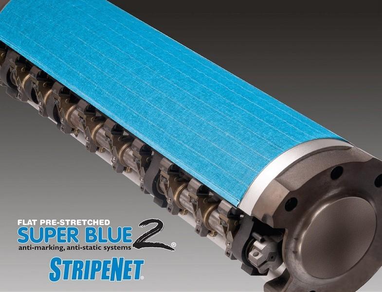 Super Blue 2 StripeNet - Precision Cut Anti-Marking Nets - Transfer Cylinder (1 Tape)