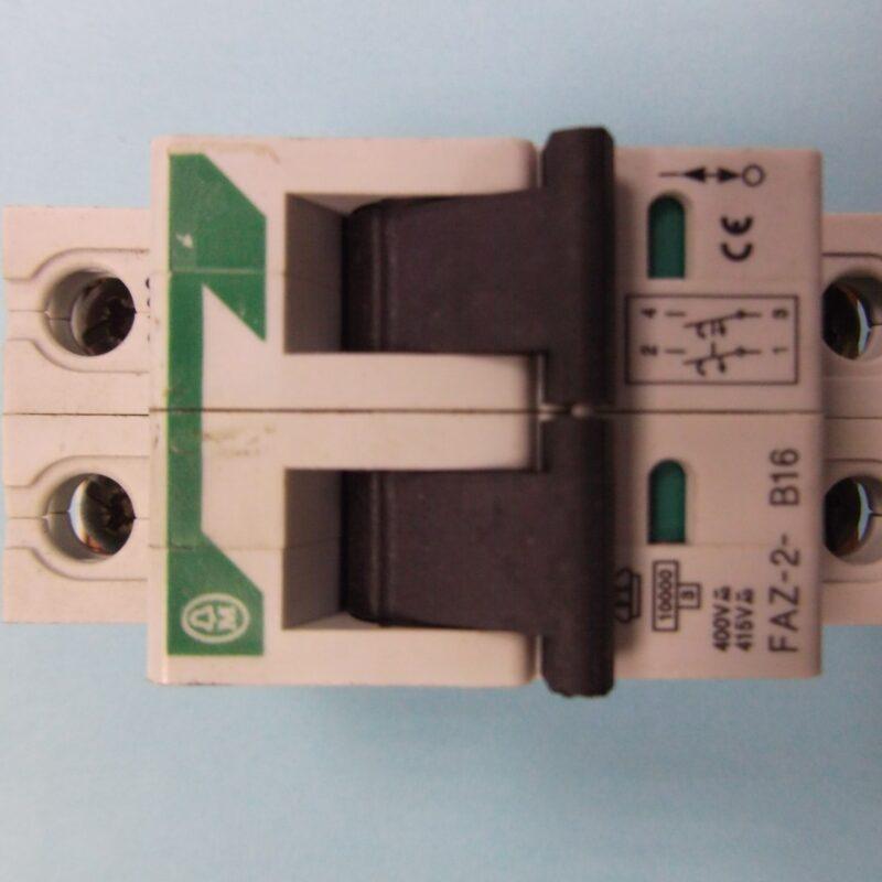 Klockner Moeller FAZ-2-B16 Two Pole MCB