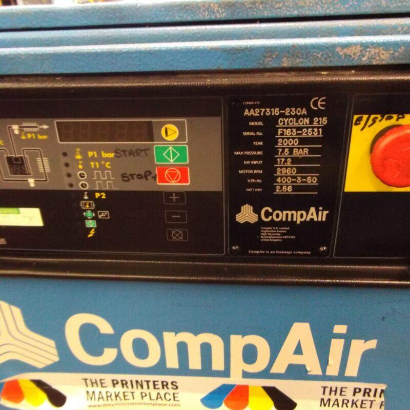 Cyclon 215 Comp Air Screw Compressor and Dryer Unit