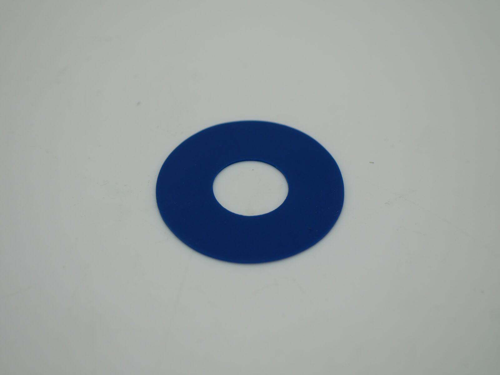 Blue Flat Sucker 38 x 15 x 0.5mm