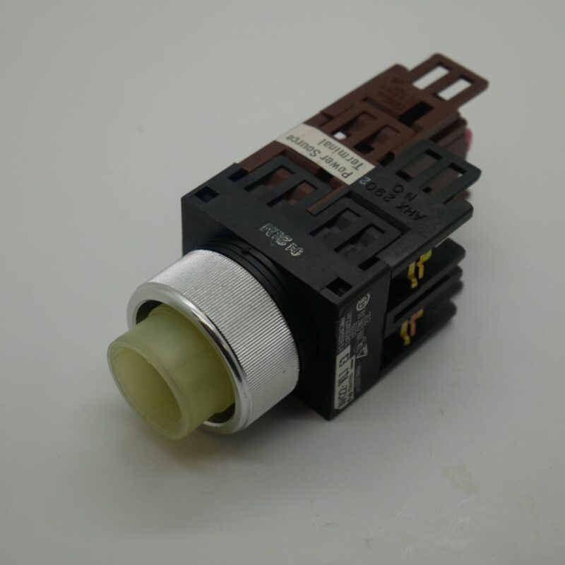 Illuminated Stop Button - AH22-VLI E3 - Silver Collar