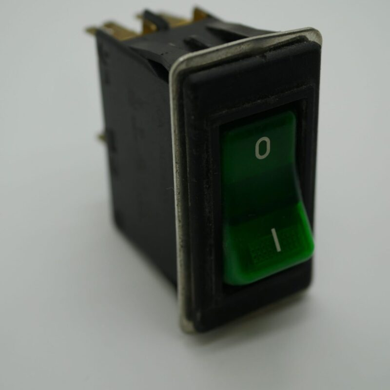 Rocker Switch Green Double Pole