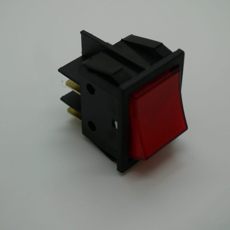 Rocker Switch Red Double Pole Latching