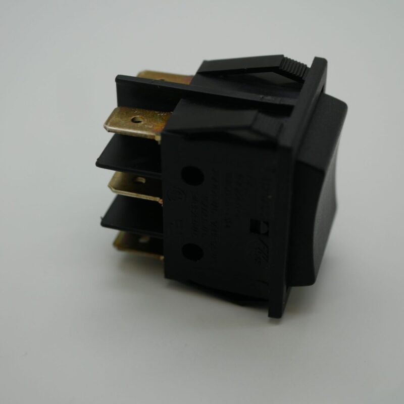 Rocker Switch Black Double Pole