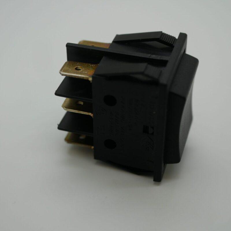Rocker Switch Black Double Pole