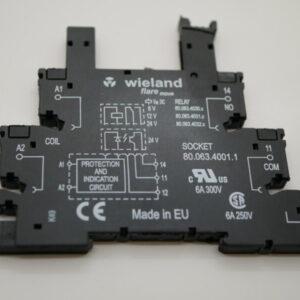 XL105 / XL106 / CD102 / SM102 Din Rail Relay Base – 24v DC – Wieland 80.063.4001.1